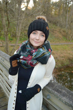 Load image into Gallery viewer, Knitted With Perfection - Black Beanie and Gloves Set