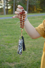 Load image into Gallery viewer, Bracelet Keychain | Wooden Bead with Tassel
