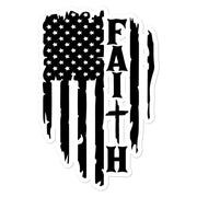 Faith Flag Bubble-free stickers