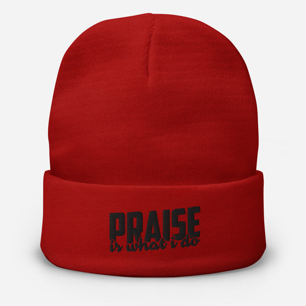 Praise Is What I Do Embroidered Beanie