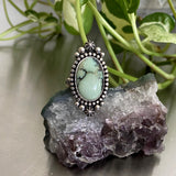 Celestial Poseidon Variscite Ring- Size 8.25- Hand Stamped Sterling Silver