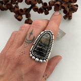Picasso Marble Portal Ring or Pendant- Sterling Silver- Finished to Size