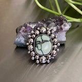Large Poseidon Variscite Super Bubble Ring or Pendant- Sterling Silver- Finished to Size