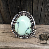 Chunky Variscite Statement Ring or Pendant- Sterling Silver and Prince Variscite- Finished to Size