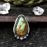 Celestial Ring or Pendant- Royston Turquoise and Sterling Silver Statement Ring- Finished to Size