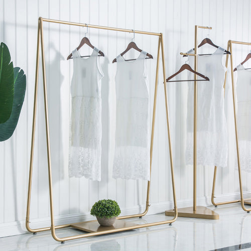 Designer Gold Clothing Garment Rack