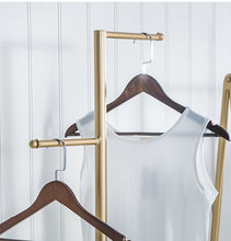 Load image into Gallery viewer, Two Way Metal Garment/Handbags Rack