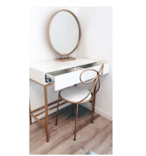Load image into Gallery viewer, Gold Round Dressing Table Mirror