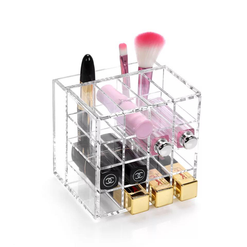 Acrylic Lipstick And Make Up Brushes Holder