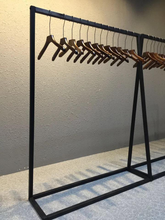 Load image into Gallery viewer, Designer Industrial Steel Finish Garment Rack