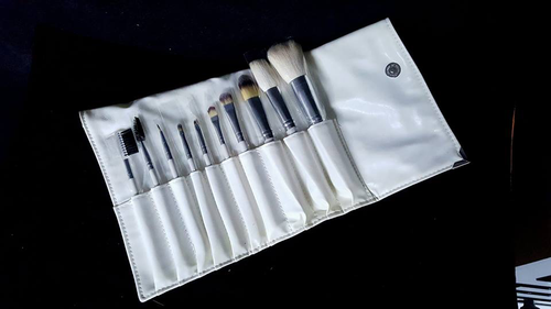 Natural Goat Hair Make Up Brushes 10 Pieces