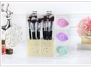 High Quality Clear Acrylic Make Up Organiser With Drawers