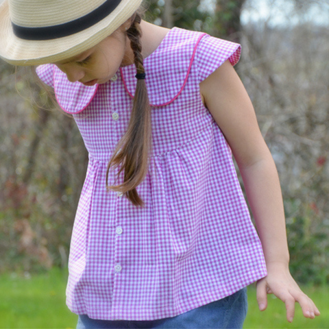 patron couture chemise fillette 2 - 12 ans flower lou and me couture