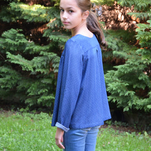 patron couture blouse fille 4 au 14 ans lou and me