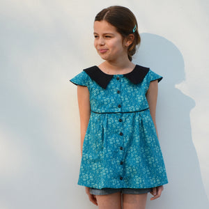 patron couture chemise col chemise 2 au 12 ans fille lou and me