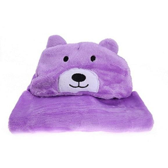 KuteKritters™ - Cartoon Animal Hooded Blankets for Babies