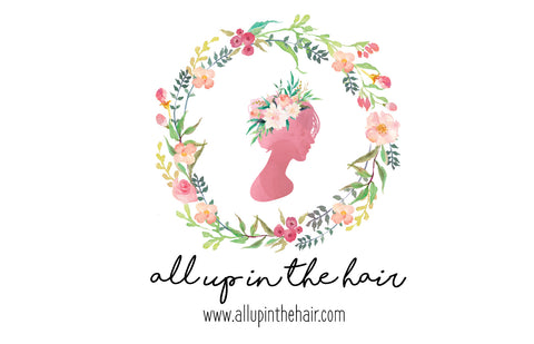 All Up In The Hair Floral Wreath Logo