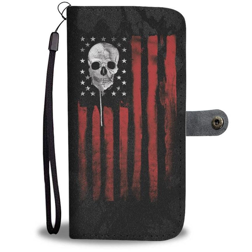 American Skull Nation Wallet Phone Case