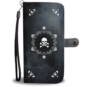 Mandala Skulls Wallet Phone Case