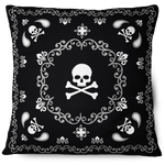 Mandala Skulls Throw Pillow Cover