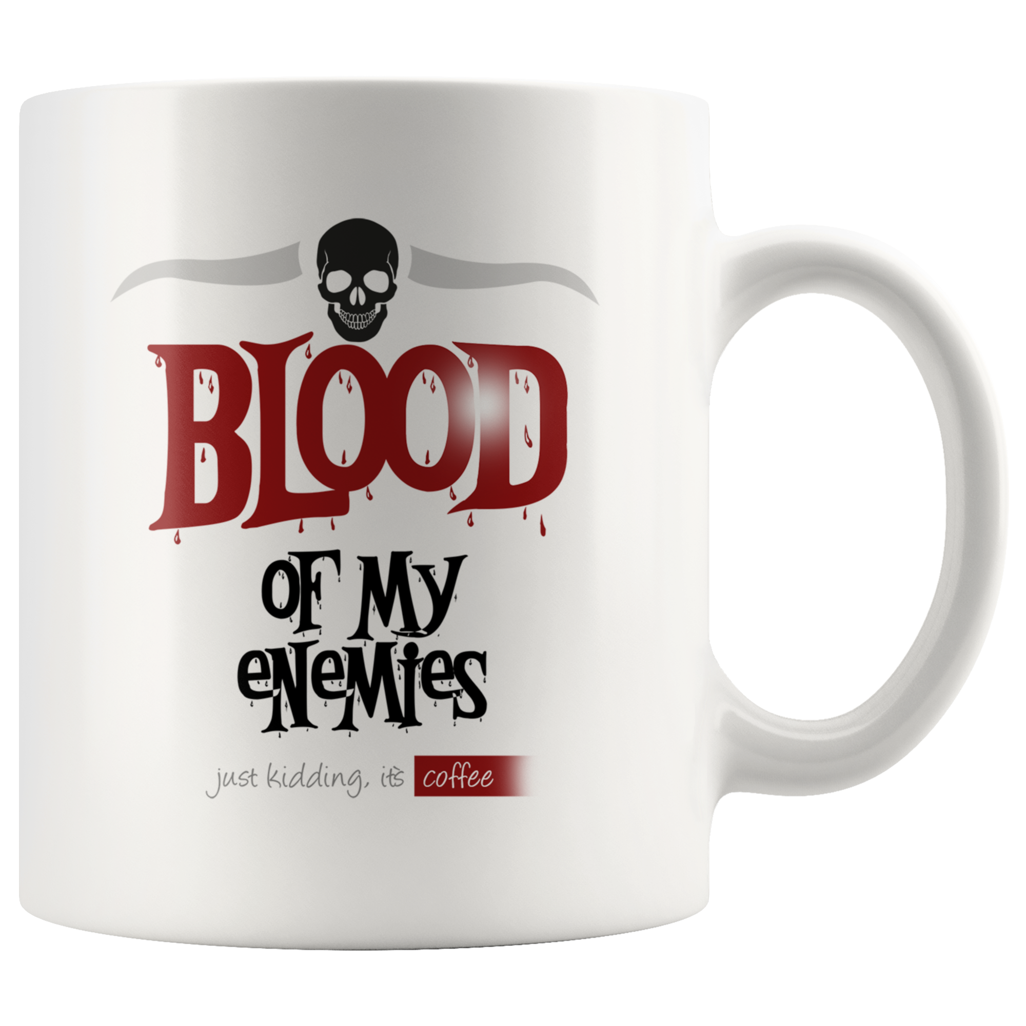 Blood Of My Enemies Skull Mug