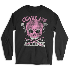 Leave Me Alone Skull Long Sleeve Tee