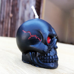 Mini Black Skull Candle Set badass