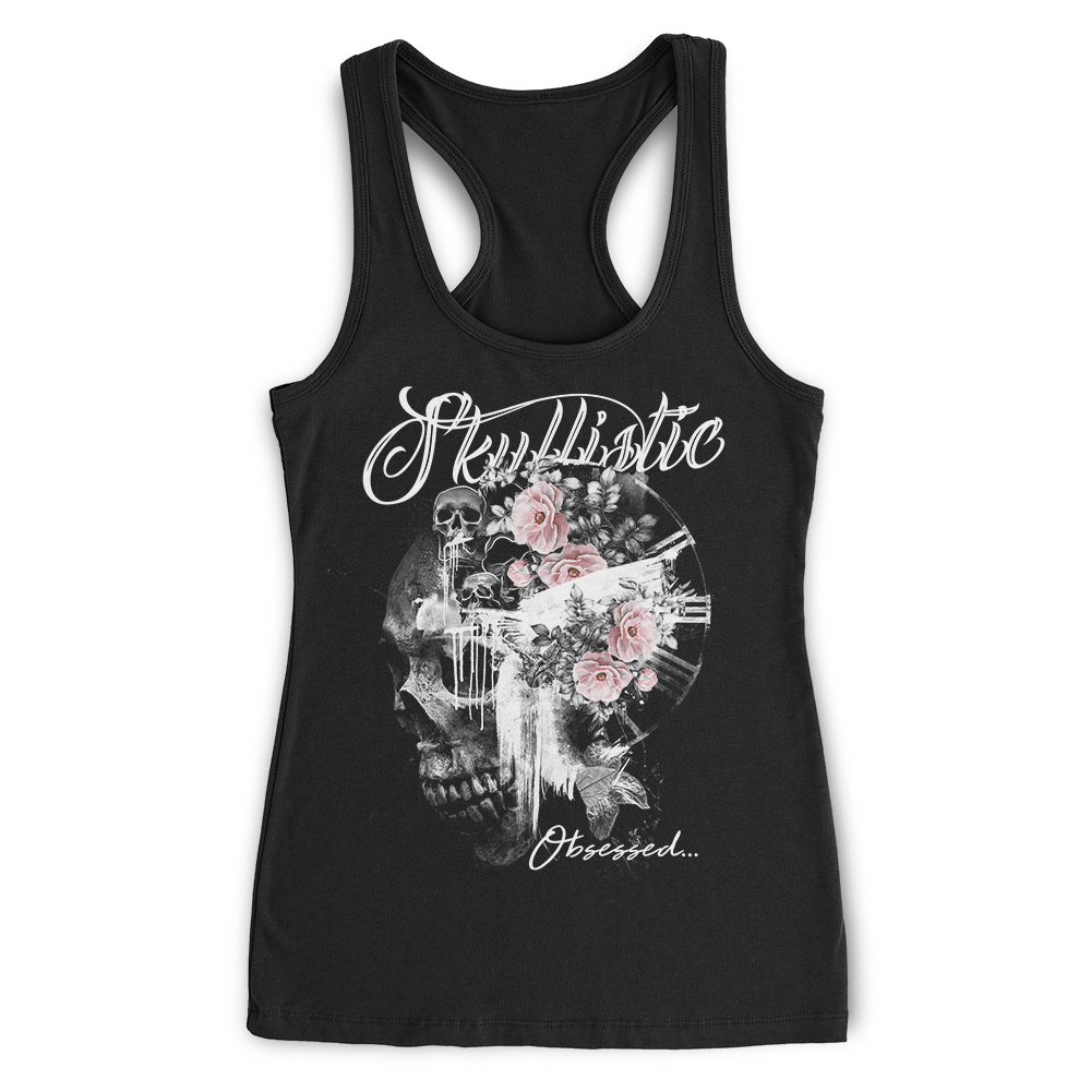 Obsessed By Skulls Racerback tank