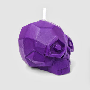 Mini Diamond Skull Candle Set Purple