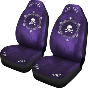 Mandala Skulls Purple Car Seat Cover Set