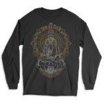 Zen Meditating Skeleton Long Sleeve Tee