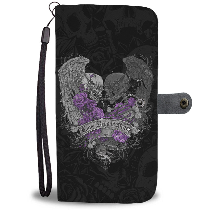 Love Beyond Death Wallet Phone Case