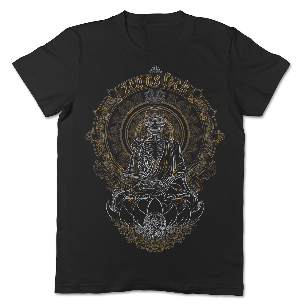 Zen Meditating Skeleton T-shirt