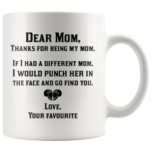 Thanks For Being My Mom Mug