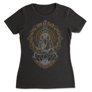 Zen Meditating Skeleton Womens T-shirt