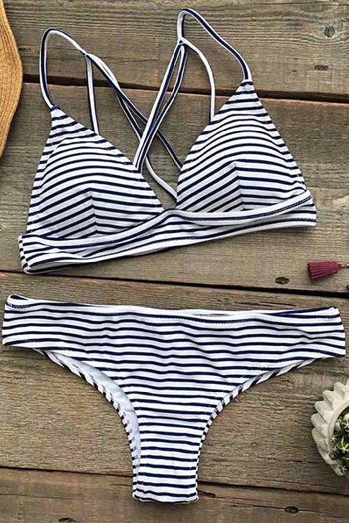 Set bikini a strisce Hot Summer