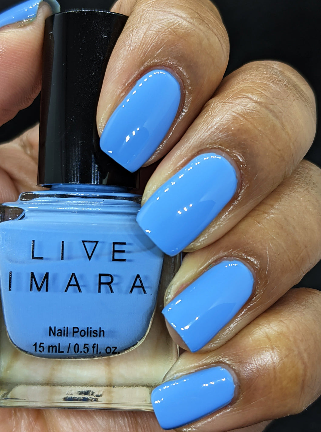 Light Blue Nail Polish - Distressed Denim