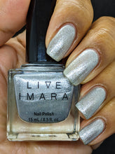 Load image into Gallery viewer, Silver Glitter Nail Polish - Foiled Again