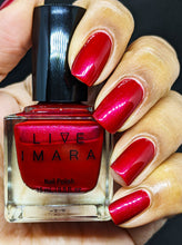 Load image into Gallery viewer, Red Shimmer Nail Polish - Red Stilettos