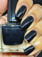 Load image into Gallery viewer, Black Glitter Nail Polish - Sparkles in the Dark