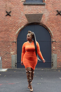 Tangerine Dream Midi Skirt Co-Ord Set