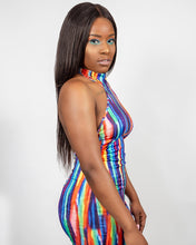 Load image into Gallery viewer, Skittles Halter Dress