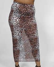 Load image into Gallery viewer, See-Thru Leopard Skirt