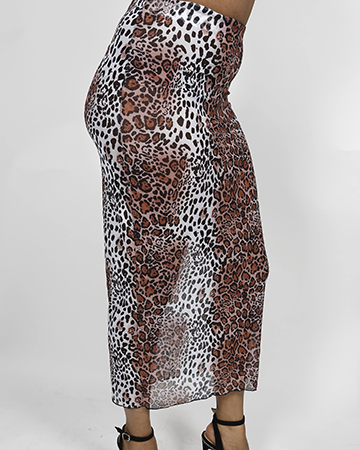 See-Thru Leopard Skirt