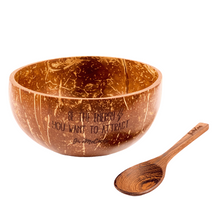 Load image into Gallery viewer, THE COCO SET: COCONUT BOWL & SPOON - GiveMeCocos