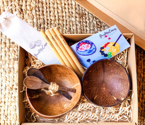 Eco Gift Box , Coconut Bowl, Wooden Spoons
