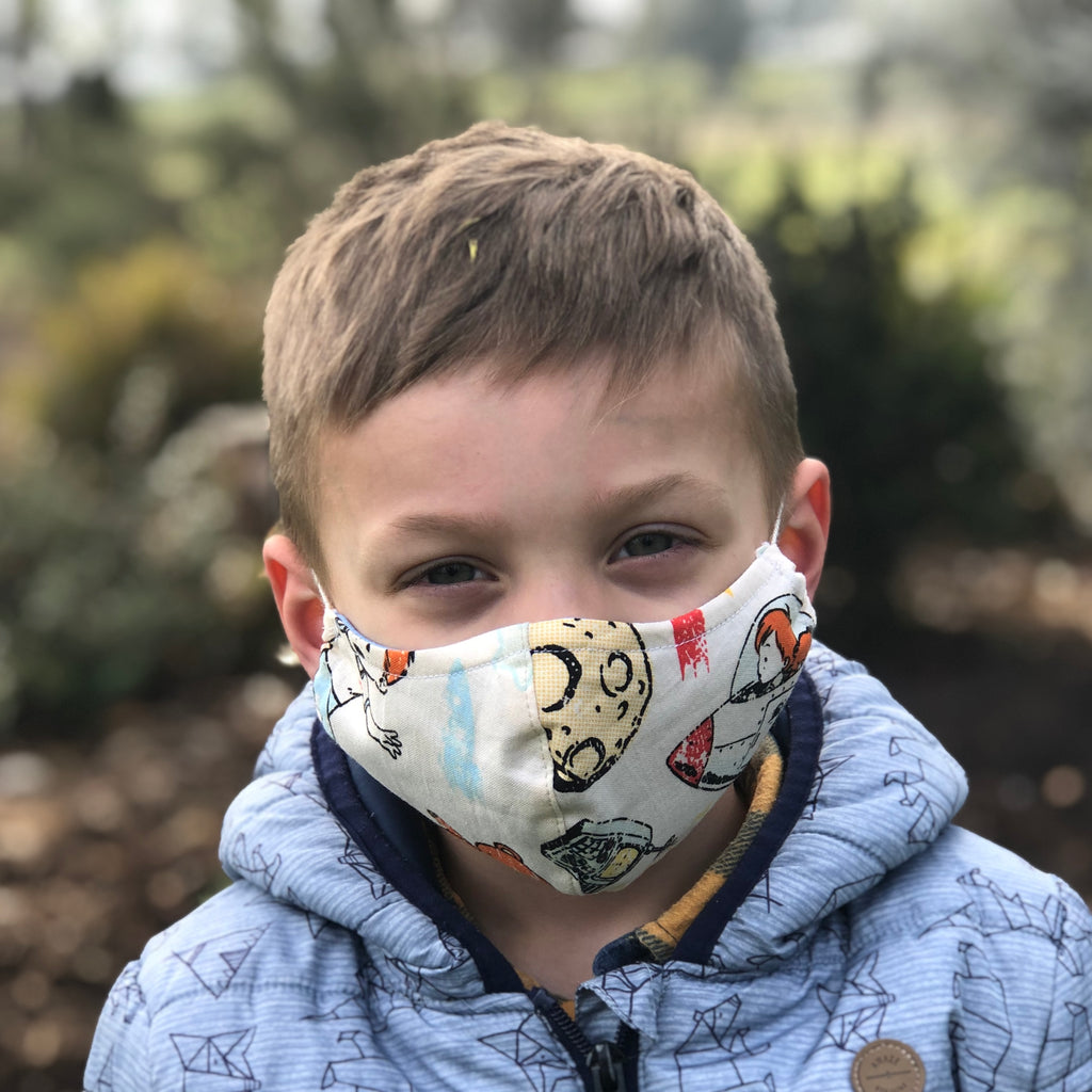 Washable/Reusable Fabric Face Mask - Size Kids 7-12 years