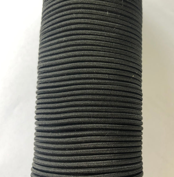 Round Shot Cord Elastic 2mm - Black