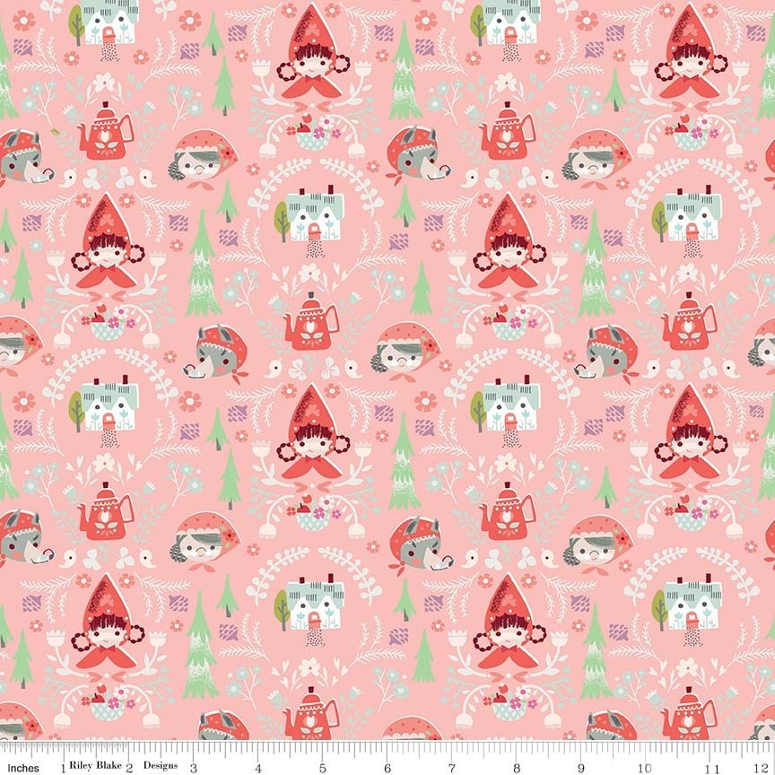 Little Red in the Woods - Damask Pink