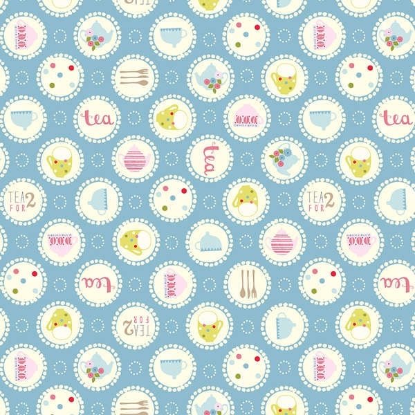 Garden Party by Tea & Sympathy – Tea Time Large Polka Dot Blue